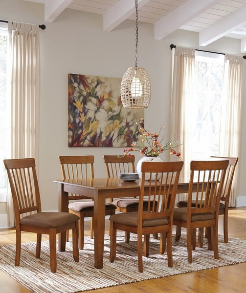 Berringer 7-Pc Rustic Brown Wood Dining Table Set by Ashley