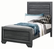 Beechnut Contemporary Gray Wood Twin Bed by Homelegance