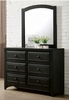 Kirsten Dark Gray Wood 6-Drawer Dresser by Furniture of America