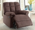 Addison Chocolate Microfiber Manual Recliner by Poundex