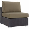 Convene 5-Pc Espresso/Mocha Outdoor Sectional Set by Modway