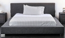 Canaves Dark Gray Fabric King Bed (Oversized) by Furniture of America