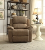 Bina Taupe Polished Microfiber Manual Recliner by Acme