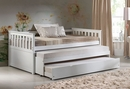 Cominia White Wood Twin Daybed with 2 Trundles by Acme