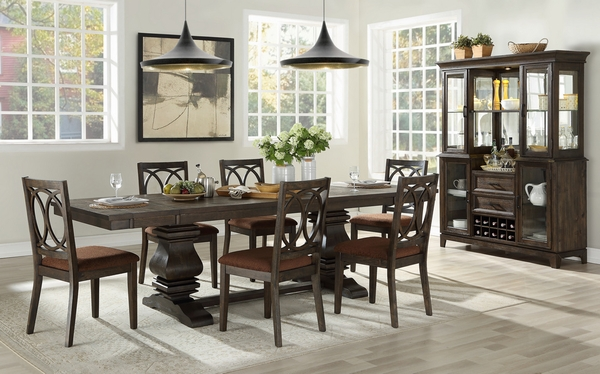 Jameson Espresso Wood Buffet with Hutch by Acme
