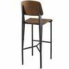 Cabin Black Bar Stool with Walnut Back & Seat by Modway