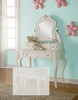 Edalene Pearl White Wood Vanity with Mirror by Acme