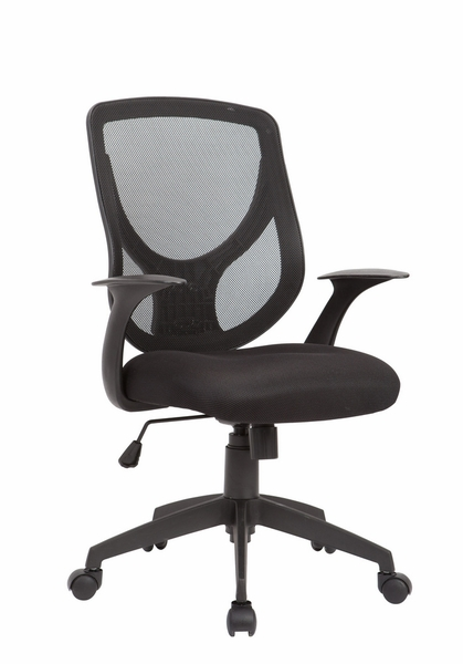 Berenice Black Mesh Adjustable Swivel Office Chair by AC Pacific