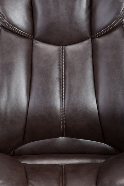 Scilla Brown PU Leather Adjustable Swivel Office Chair by AC Pacific