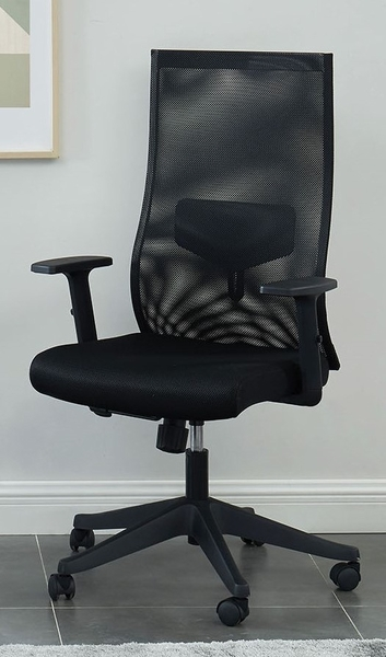 Orli Black Mesh Fabric/Metal Tall Office Chair by Furniture of America