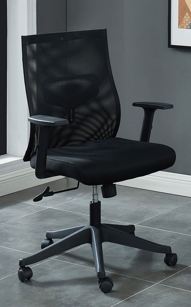 Orli Black Mesh Fabric/Metal Office Chair by Furniture of America