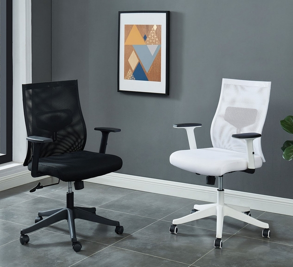 Orli White Mesh Fabric/Metal Office Chair by Furniture of America