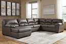 Benchcraft Aberton 3-Pc Gray LAF Sectional Sofa (Oversized) by Ashley