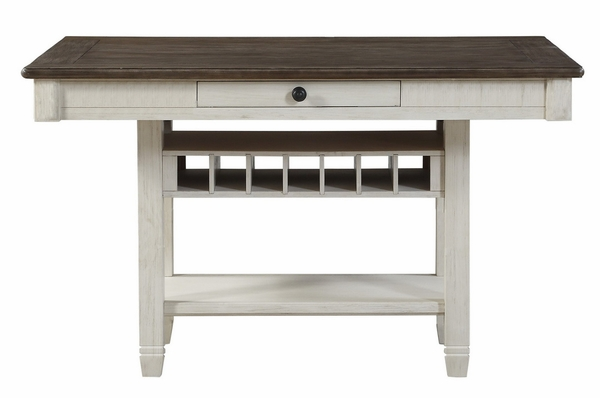 Granby Antique White/Rosy Brown Counter Height Table by Homelegance