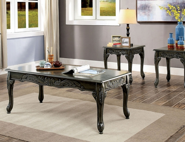 Cheshire Gray Wood Sofa Table by Furniture of America