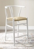 Amish White Elm Wood/Paper Rope Counter Height Chair by Modway