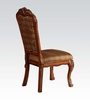 Dresden 2 Cherry Oak Wood/Fabric Side Chairs by Acme