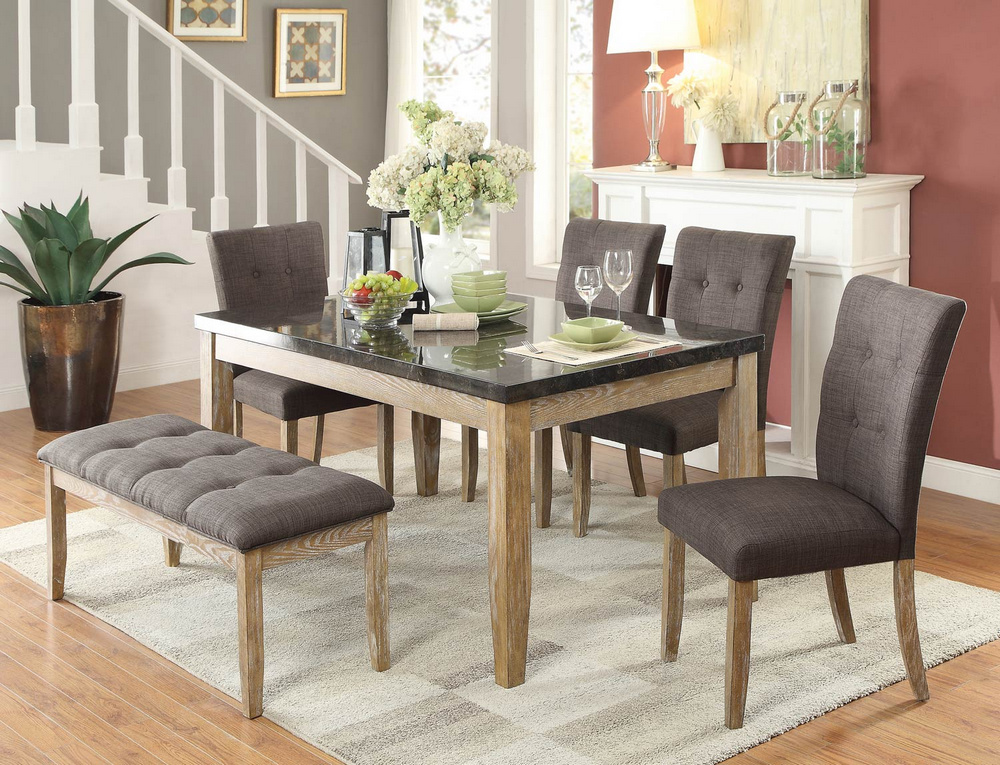 Huron 2 Light Oak Fabric/Wood Side Chairs by Homelegance