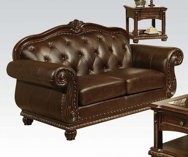 Anondale 4-Pc Top Grain Leather Match Sofa Set (Oversized) by Acme