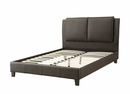 Bettina Brown Faux Leather Full Bed by Poundex
