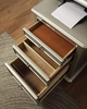 Anne Silver Wood File Cabinet by Furniture of America