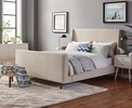 Aubree Beige Upholstered Fabric Queen Bed by Modway