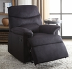 Arcadia Black Woven Fabric Manual Recliner by Acme