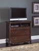 Deryn Park Cherry Wood 3-Drawer TV Chest by with 2 Shelves Homelegance