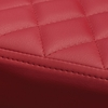 Milo 4 Red Diamond Tufted Leatherette Side Chairs by Diamond Sofa