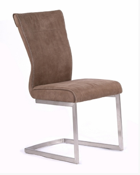 Modrest Monty Modern 2 Brown Fabric Side Chairs by VIG Furniture