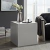 Cast Silver Stainless Steel Side Table by Modway