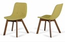 Modrest Laken Modern 2 Green Tea Linen Side Chairs by VIG Furniture