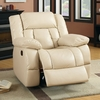 Barbado Ivory Manual Glider Recliner by Furniture of America