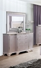 Claudette Silver Rose Glass/Wood Mirror by Furniture of America