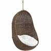 Bean Coffee/White Outdoor Patio Swing Chair by Modway