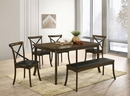 Buhl I Burnished Oak Wood Dining Table by Furniture of America