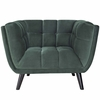 Bestow Green Soft Velvet Fabric Arm Chair by Modway