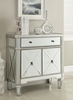 Edvi Mirrored Wine Cabinet with Removable Wine Holder by Coaster