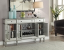 Edvi Mirrored Wine Cabinet with 3 Drawers by Coaster
