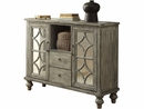 Velika Weathered Gray Wood Console Table w/2 Doors & 2 Drawers by Acme