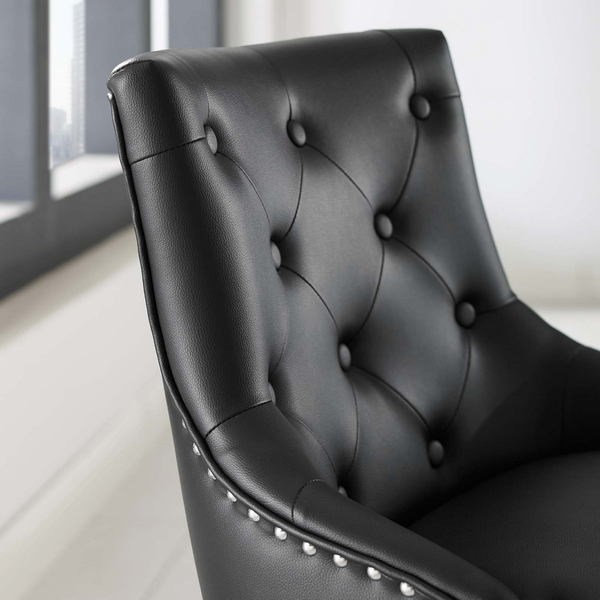 Regent Black Faux Leather Office Chair with Pneumatic Lift by Modway