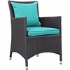 Convene 11-Piece Espresso/Turquoise Outdoor Patio Dining Set by Modway