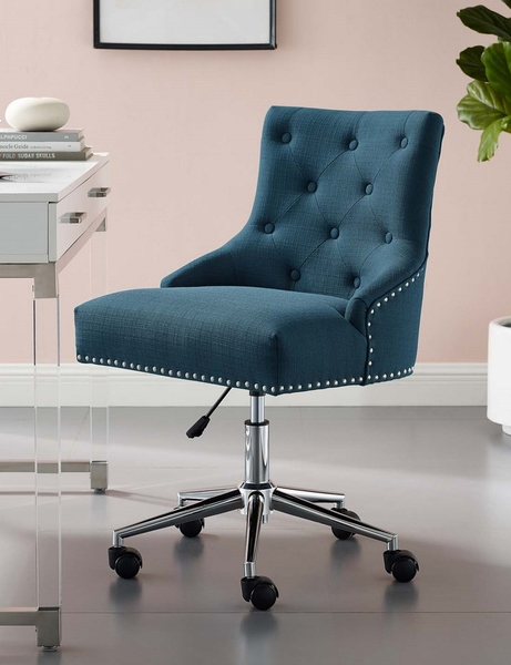 Regent Azure Fabric Office Chair with Pneumatic Lift by Modway
