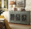 Donata Antique Green Wood 3-Door Accent Cabinet by Coaster