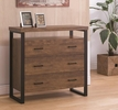 Moni Rustic Amber Wood Accent Cabinet by Coaster
