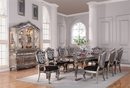 Chantelle Antique Platinum Wood Extendable Dining Table w/Leaf by Acme