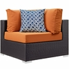 Convene Expresso Orange 7-Pc Outdoor Patio Sectional Set by Modway