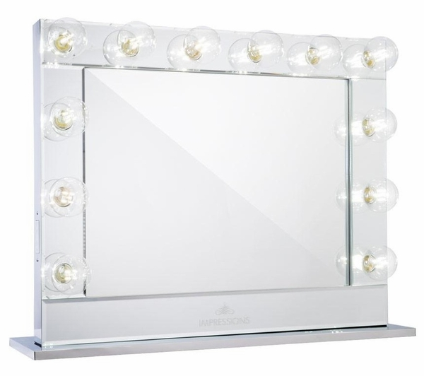 Hollywood Reflection Plus Silver Vanity Mirror by Impressions Vanity
