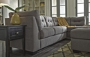Benchcraft Maier 2-Pc Charcoal Fabric RAF Sectional by Ashley