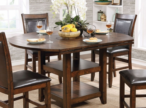 Meagan Brown Cherry Round Counter Height Table by Furniture of America